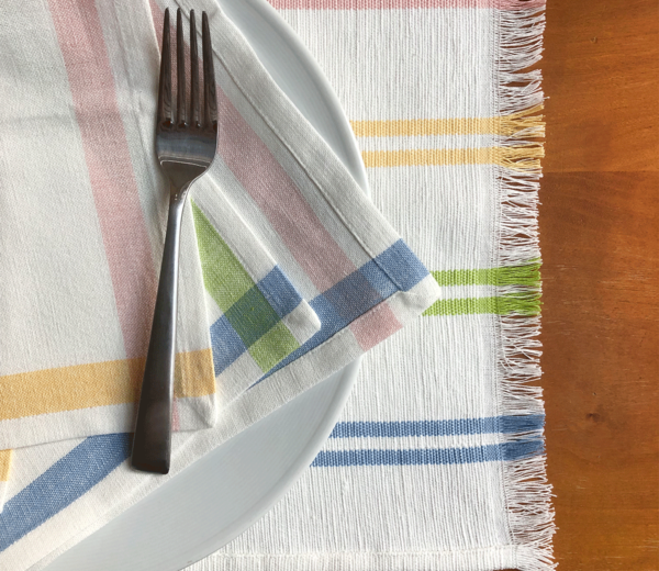 Easter Stripe Napkin and Placemat