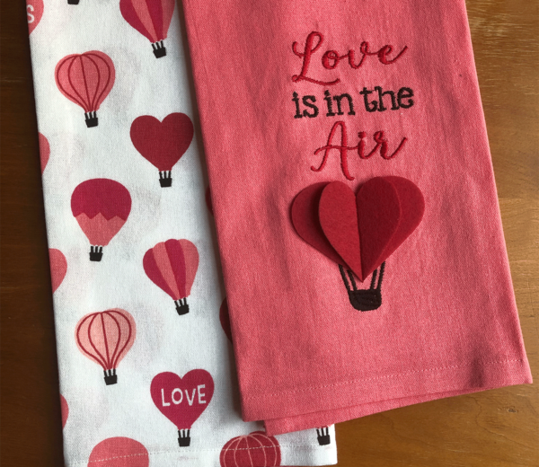 Love is in the Air Kitchen Towel Set