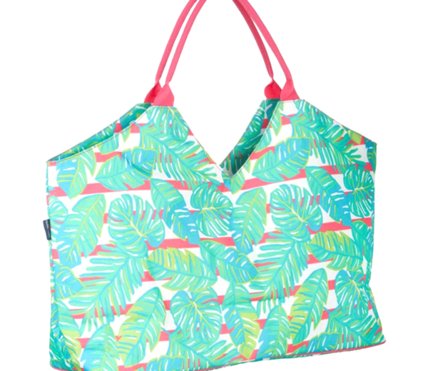 Palm Leaf Print Beach Accessories