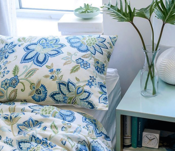 Blue Floral Bedding