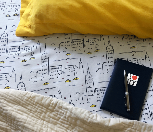 City Skyline Bed Sheets