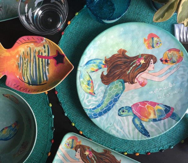 Mermaid Melamine Collection