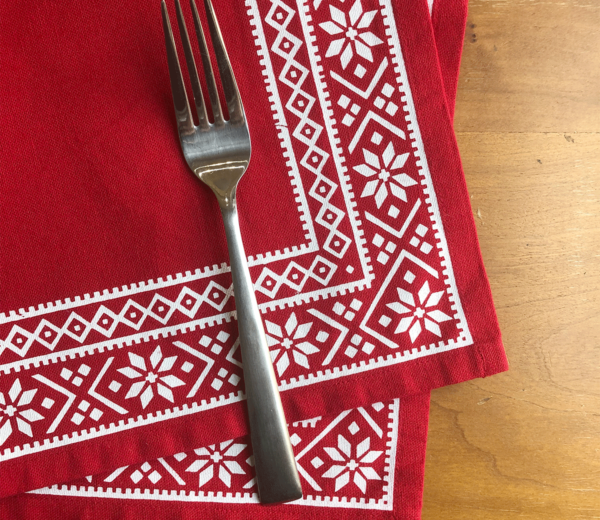 Christmas Fair Isle Napkin